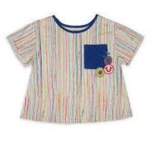 True Religion stripe pocket tee retro